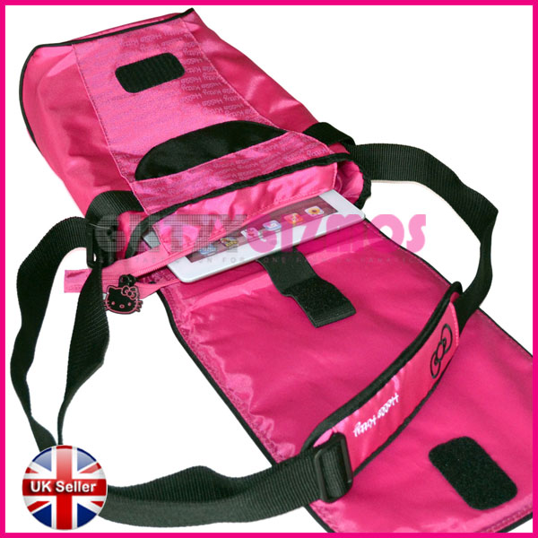 Hello Kitty Tablet Pillow: PINK HELLO KITTY PADDED CARRY CASE COVER SLEEVE BAG FOR
